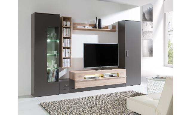 Moderní bytový nábytek Grom, grafit/san marino